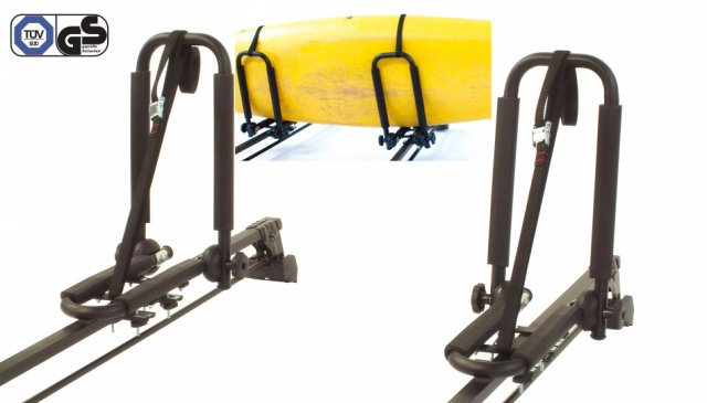 Peruzzo Автобагажник на крышу KAYAK, сталь, для 1-го каяка или доски сёрфинга, max D: 1500 мм, установ. дуги max. 70 чёрный, упак.-коробка., И-0054632  - купить со скидкой