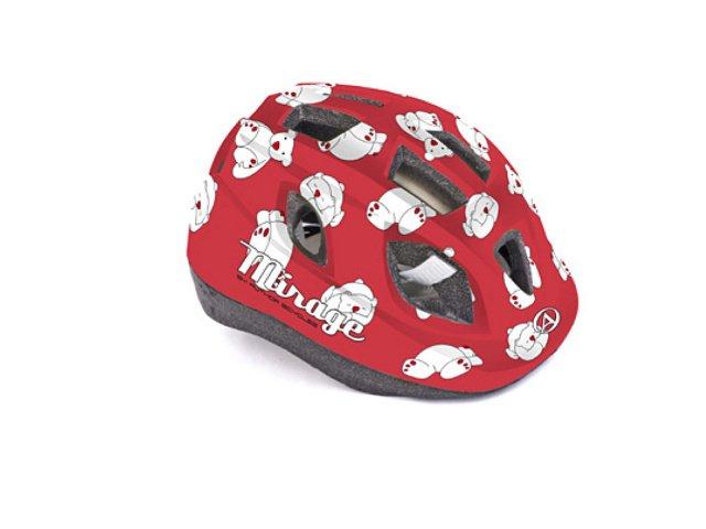 Шлем 8-9089958 с сеточкой Mirage 162Red Bear INMOLD детский/подр. 12отв. красный 48-54см (10) AUTHOR - СКИДКА 6%., И-0043750  - купить со скидкой