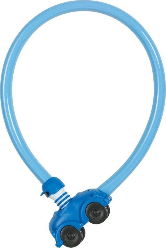 Велозамок ABUS трос 4мм, ключ, Машинка My first 1505/55см, 200гр, голубой - СКИДКА 13%., И-0074833  - купить со скидкой