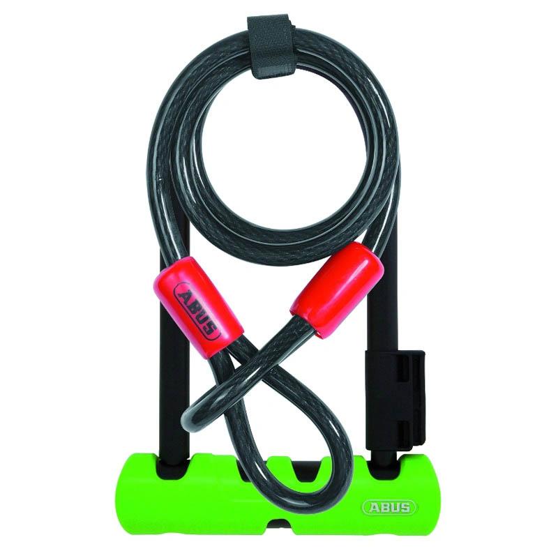 Велозамок ABUS скоба 14мм, ключ,Ultra 410/170HB 230х110мм+трос Cobra 10/120мм с кр, кл.защ.8/1 1000г - СКИДКА 14%., И-0074814  - купить со скидкой
