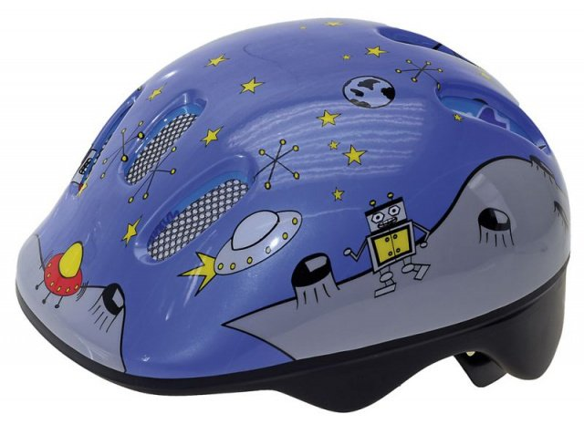 Шлем .детский/подростк. с сеточкой 6отв. 52-56см SPACE/голубой светоотраж. M-WAVE - СКИДКА 2%., И-000013207  - купить со скидкой