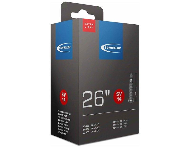 Камера SCHWALBE 26 спорт SV14 EXTRA LIGHT (40/60-559) IB 40mm 05-10424343 - СКИДКА 28%., И-0067616  - купить со скидкой
