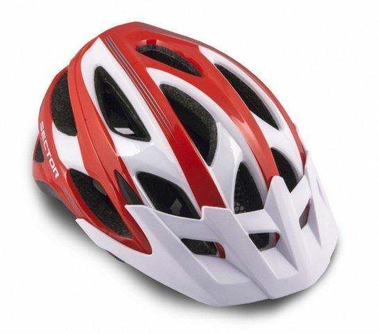 Шлем 8-9001350 спорт. с сеточкой Sector 121 Red 18отв. INMOLD красно-белый 54-58см (10) AUTHOR - СКИДКА 25%., И-0026920  - купить со скидкой