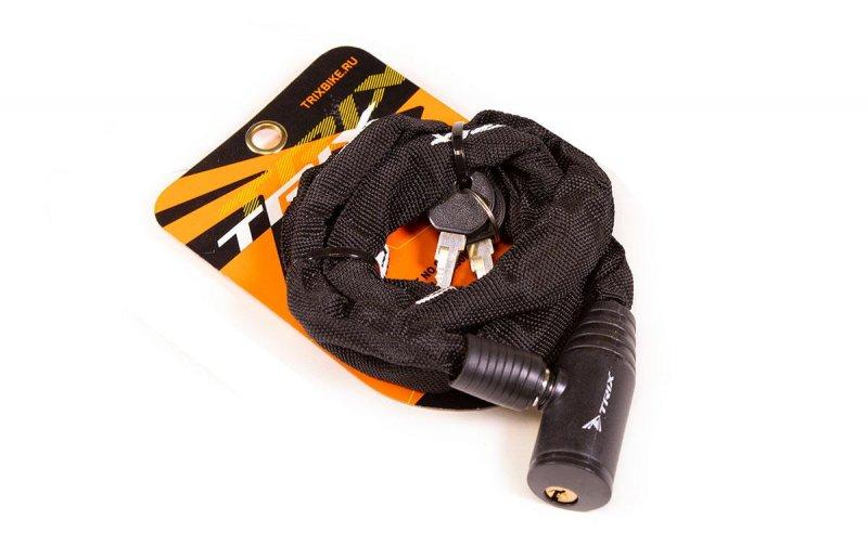 Велозамок-цепь Trix GK105.109 1200 мм черный., И-0068724  - купить со скидкой