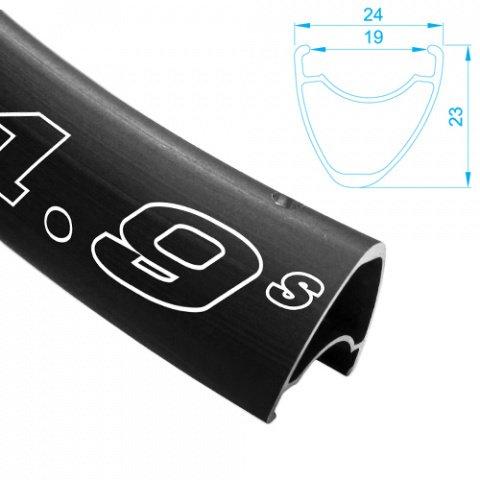 ALEX RIMS Обод DRAW 1,9S 700Сх19ммх28H, F/V, асимметричный профиль, D, чёрный (шоссе)., И-0054930  - купить со скидкой