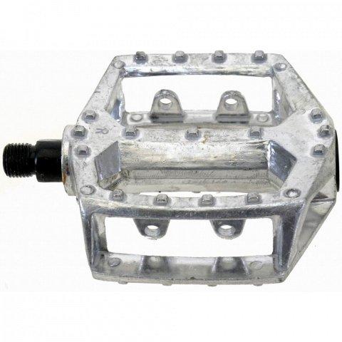 Педали алюминиевый литые широкие резьба 1/2 серебр.., И-000006292  - купить со скидкой
