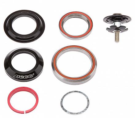 Рулевая колонка Neco FP-H869T для конического штока 1-1/8 -1.5 безрезьбовой вилки, интегрированвая, черная., И-0064102  - купить со скидкой
