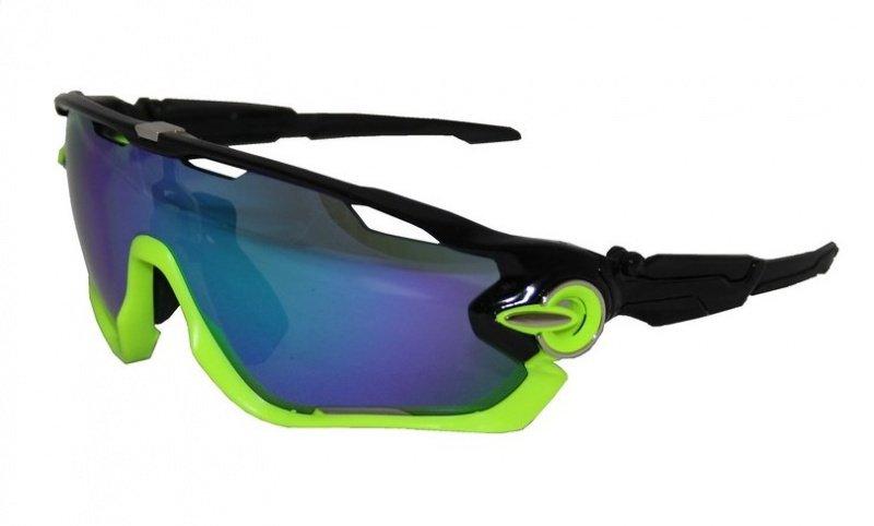 Велоочки Vinca sport VG 107 cо сменными линзамичёрный/зелёный., И-0058675  - купить со скидкой