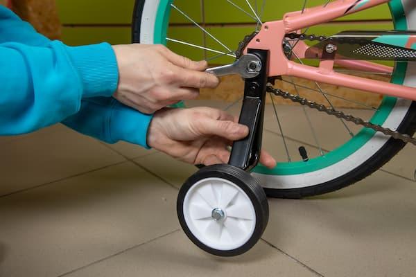 Установка боковых колес
