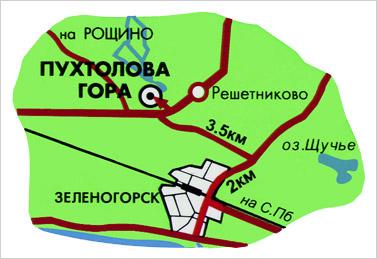 карта пухтолова гора