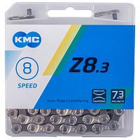 Купить Цепь 1/2 х3/32 114зв. 7,3мм Z-8.3 Silver/Greyс замком 6-8скор. в пластик. коробке серебрист.-серая КМС - СКИДКА 13%., И-0068247