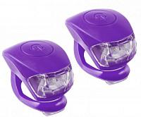 Купить Фонарики брелоки M-Wave COBRA IV передний и задний, фиолетовый корпус - СКИДКА 31%., И-0057911