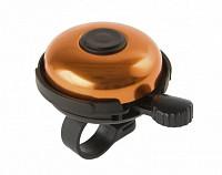 Купить Звонок алюминиевый/пластик D=53мм черно-оранжевый (на блистере) M-WAVE., И-0050169