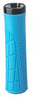Купить Грипсы на руль H6 OneSideLock 135мм резиновые, новый антискользящий дизайн, c 1 фиксатором синие 00-170566 - СКИДКА 15%., И-0069264