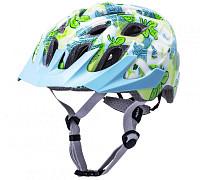 Купить Шлем KIDS CHAKRA YOUTH Flora Blu 21отв. 52-57см 245г. цветы, зел-голуб-белый, CF. KALI - СКИДКА 5%., И-0064668