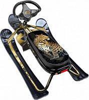 Купить Снегокат Ника-кросс (леопард/золотистая рама) - СКИДКА 17%., И-0062734