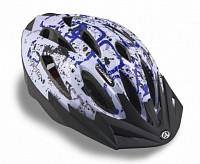 Купить Шлем 8-9001371 спорт. с сеточкой Vento 125 Blu 17отв. INMOLD сине-белый 58-61см (10) AUTHOR - СКИДКА 24%., И-000013527