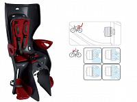 Купить BELLELLI Сидение заднее Summer Standard B-fix тёмно-серый/красный, до 22кг., И-0054728