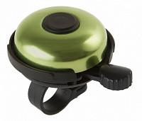 Купить Звонок алюминиевый/пластик D=53мм черно-зеленый (на блистере) M-WAVE - СКИДКА 22%., И-0034589