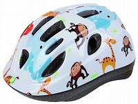 Купить Шлем .детский/подростк. 5-731880 с сеточкой 12отв. INMOLD 48-54см ZOO/белый (10) MIGHTY JUNIOR - СКИДКА 25%., И-0026025