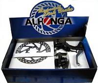 Купить Тормоза дисковые механические ALHONGA HJ-MD11+HJ-327ADV+2P передний+задний с торм. ручками и роторами 160мм., И-0067391