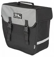 Купить Сумка M-Wave 5-122320 на багажник боковая 38х18х30 см влагозащитная черно-серая - СКИДКА 15%., И-0029590