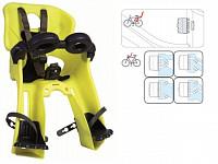 Купить BELLELLI Сидение переднее Freccia B-Fix Hi-Viz, светоотражающее, жёлтое, до 15кг - СКИДКА 14%., И-0054763