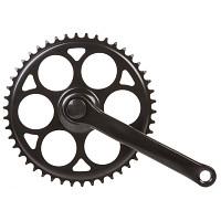 Купить Система велосипедная, 1 скорость, сталь 1/2х1/8 46 зуб, шатун 170мм, черная 5-350742 - СКИДКА 7%., И-0071317