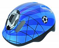 Купить Шлем .детский/подростк. с сеточкой 6отв. 52-56см SOCCER/сине-бело-черн. M-WAVE - СКИДКА 2%., И-0026862