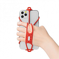 Купить Держатель для смартфона 4.7'-7,2' на кисть руки BONE RUN TIE HANDHELD силиконовый красный - СКИДКА 13%., И-0070721