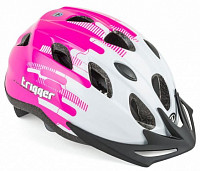 Купить Шлем 8-9090012 с сеточкой Trigger 171 Pnk INMOLD подростковый 12отв бело-розов. 52-56см (10) AUTHOR - СКИДКА 15%., И-0051263