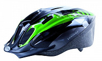Купить Шлем 5-731036 с сеточкой 11отв. 54-58см черно-бело-зеленый VENTURA - СКИДКА 4%., И-000009469