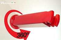 Купить Устройство настенное Peruzzo COOL BIKE RACK для хранения велосипеда, красный - СКИДКА 30%., И-0067469
