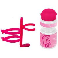 Купить Фляга детская с держателем Ventura 0.3 л розовая лошадка - СКИДКА 3%., И-0068872