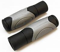 Купить Ручки CLARK`S С44 на руль резиновые 125мм эргоном. 2-х комп. черно-серые - СКИДКА 15%., И-0066183