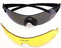 Купить Очки велосипедные Vinca Sport VG 25 cо сменными серыми и желтыми линзами, черная оправа., И-0058671
