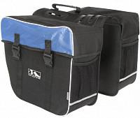 Купить Сумка- штаны на багажник черно-синяя AMSTERDAM DOUBLE M-WAVE - СКИДКА 20%., И-0053032