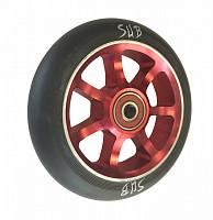 Купить Колесо для трюкового самоката 100мм SUB красно-черное, 00-180103., И-0068453