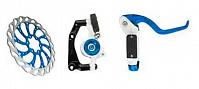 Купить Передний дисковый гидравлический тормоз CLARK`S (В комплекте ротор 160 и адаптер) 3-214 - СКИДКА 24%., И-0022207