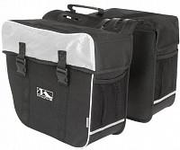 Купить Сумка- штаны на багажник черно-белая AMSTERDAM DOUBLE M-WAVE - СКИДКА 5%., И-0052234