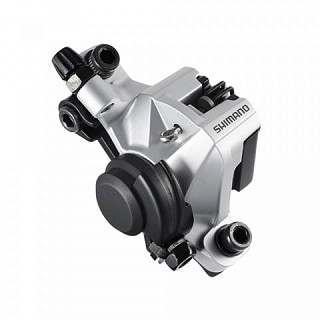 Калипер механический SHIMANO BR-M375 серебро, post mount. EBRM375MPRS