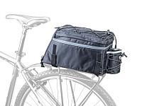 Купить Велосумка AUTHOR A-N472 X9 на багажник, раскладная, с плечевым ремнем, V=9+5 л, 550 гр, черная, 8-15000058., И-0068132