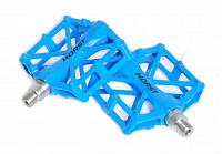Купить Педали алюминиевый H32 широкие литые с шипами. 92*95*15мм, 388 г синие HORST., И-0059281