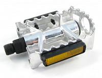 Купить Педали Vinca Sport MX-P801 алюминиевые серебристые 103*78мм ., И-0033929