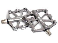 Купить Педали алюминиевый H518 широкие, ось Cr-Mo с 4-мя герм. промподш. смен. шип. 91*101*11мм, 340 г серые HORST - СКИДКА 3%., И-0043335
