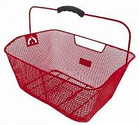 Купить Корзина 5-431613 задняя усил. 41х31х16см сталь на багажник с ручкой красная M-WAVE - СКИДКА 7%., И-0037657