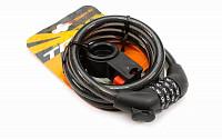 Купить Велозамок TRIX GK102.705B стальной трос 12×1200мм, кодовый., И-0072838