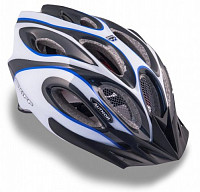 Купить Шлем 8-9001263 спорт. с сеточкой Skiff 143 Blu 14отв. INMOLD сине-бело-черный 52-58см (10) AUTHOR., И-0049949