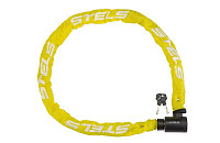 Купить Велозамок цепь на ключе 85803 6x1200mm Yellow Chain., И-0019714