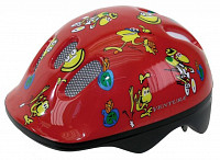 Купить Шлем .детский/подростк. с сеточкой 6отв. 48-52см FROGS/красный M-WAVE - СКИДКА 2%., И-0027624